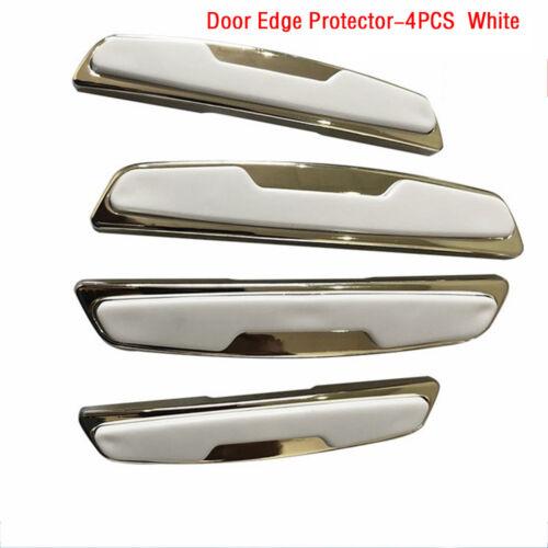 2//4Pcs Rubber Carbon Fiber Car Bumper Protector Strip Corner Guard Front Rear~