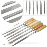 Needle File Set 6 Piece Course Cut Watchmaker Jewelry Wooden Handles Tools