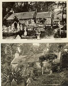 D-053-ISLE-OF-WIGHT-TWO-POSTCARDS-OF-BONCHURCH