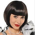 Wig Flapper short cut 100% synthetic fiber Black 1920s costume Facial Hair New