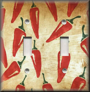 Light Switch Plate Cover Southwestern Decor Chili Peppers Red Kitchen Ebay