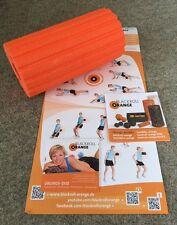 Blackroll naranja 30 cm Groove ultra masaje papel entrenamiento DVD de ejercicios póster