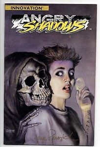 ANGRY-SHADOWS-1-SIGNED-EDITION-Faye-Perozich-1ST-VAMPIRE-LESTAT-NM