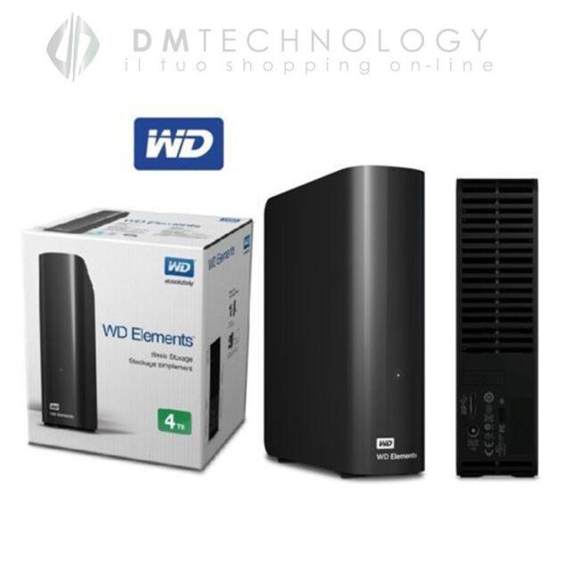"""HARD DISK ESTERNO 3,5"""" 4TB WESTERN DIGITAL USB 3.0 HD 4000GB WDBWLG0040HBk"""