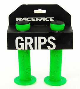 Race Face Chester MTB BMX Grips GREEN      Made by ODI USA        Free Shipping