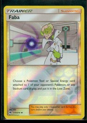 Faba 173//214 Non-holo 1x Pokemon TCG Lost Thunder