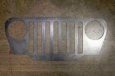 Jeep beer grill metal wall art plasma cut decor mancave