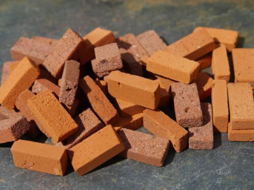 50 richard stacey multi rouge miniature maison de poupées briques