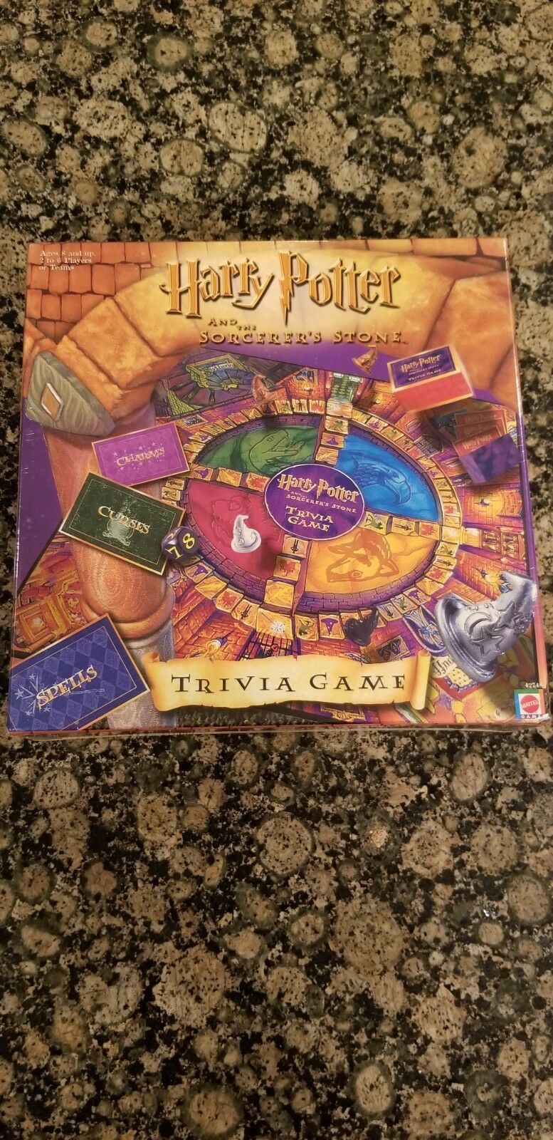 Harry Potter and the Sorcerer's Stone Trivia Board Game from Mattel NIB