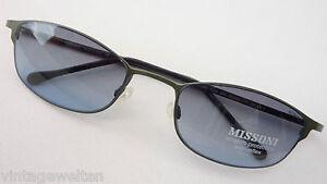 Damen-accessoires Temperamentvoll Missoni Designer Sonnenbrille Entspiegelte Verlaufgläser Metall Grün Größe L 100% Garantie