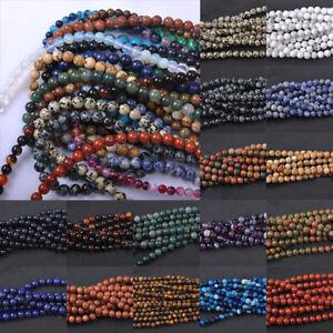 5-40Pcs-Naturale-pietra-preziosa-rotonda-Distanziatore-Perline-Sfuse-4-6-8-10-12mm-gioielli-trovare