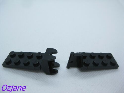 1 x  Lego 3640c01 Hinge Plate 2 x 4 with Articulated Joint Black