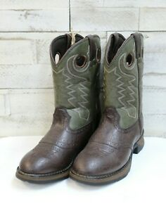 3fce2d7ecc8 Details about Durango Big Kid Saddle Western Boots-Brown Round Toe, Style  BT306