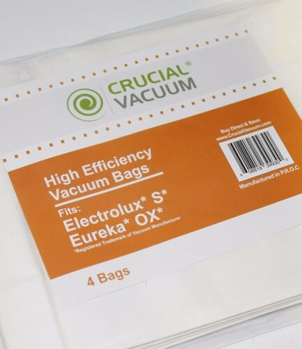 8 REPL Eureka Style OX /& Electrolux Style S Allergen Paper Vac Bags Part # 61230