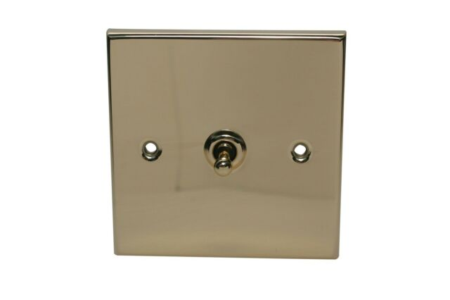 Victorian Style Brass 2 Way 10A Toggle Single Light Switch DEC0019