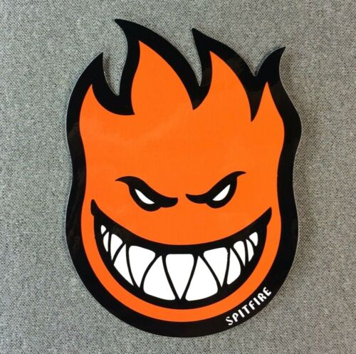 SpitFire Fireball Skateboard Sticker 6in orange si
