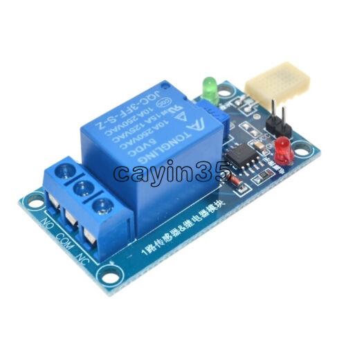 1PCS DC 5V 1 Channal 1CH 5V HR202  Humidity Sensitive Switch Relay Module