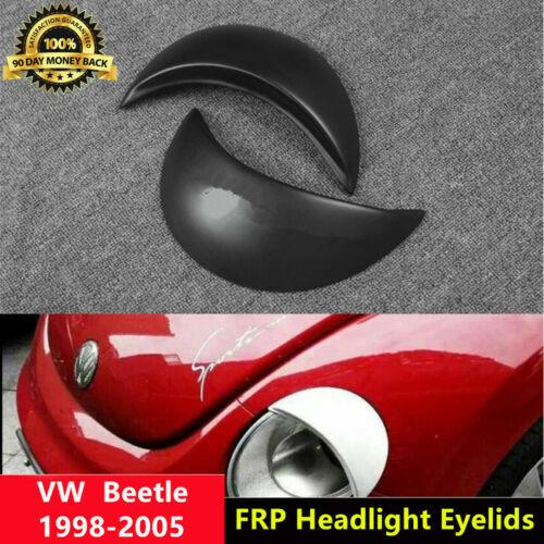 Beetle Eyelid Unpainted Headlight Eyebrows for Volkswagen 1998-2005