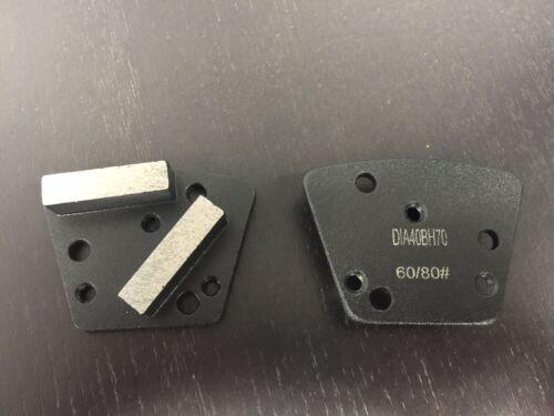 Trapezoid Metal Diamond Concrete Grinding Pad Scraper60//80 GritHard Bond