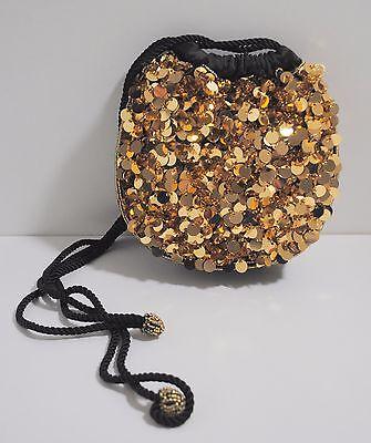 Abendtasche - Ausgehtasche - Tasche - Pailletten - NEU - gold - Edel