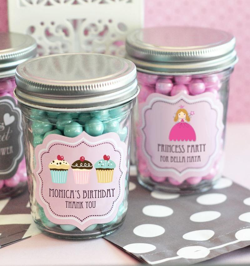 48 48 48 Personalized Mod Kid's Birthday Theme Mini Mason Jars Birthday Party Favors 4ebce6