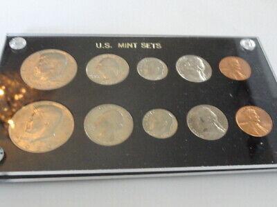 1958 U.S SILVER MINT SET IN BLACK OR  BLUE PLASTIC CAPITAL HOLDERS