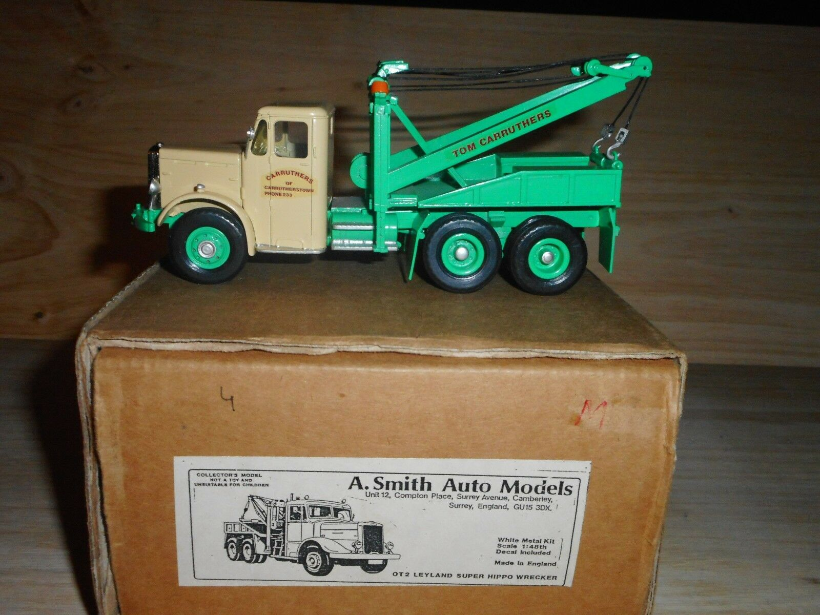 A.SMITH AUTO AUTO AUTO MODELS (  ASAM ) leyland super hippo wracker  kit métal monté 1/48   New Style,En Ligne  3d005b
