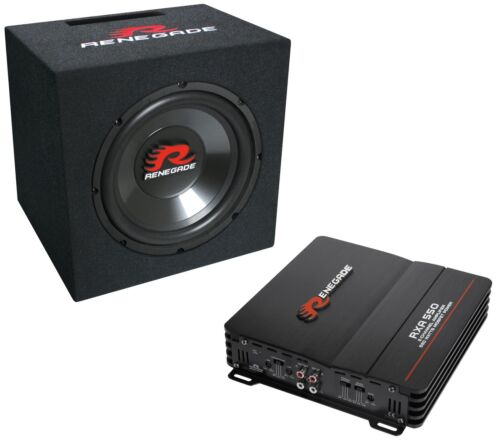 Renegade basskit RBK 550 bass paquete etapa final subwoofer bassbox 550w