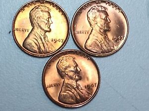 1942-D  Lincoln Cent   Wheat Penny Red Gem BU 1 COIN=1BUY US COINS