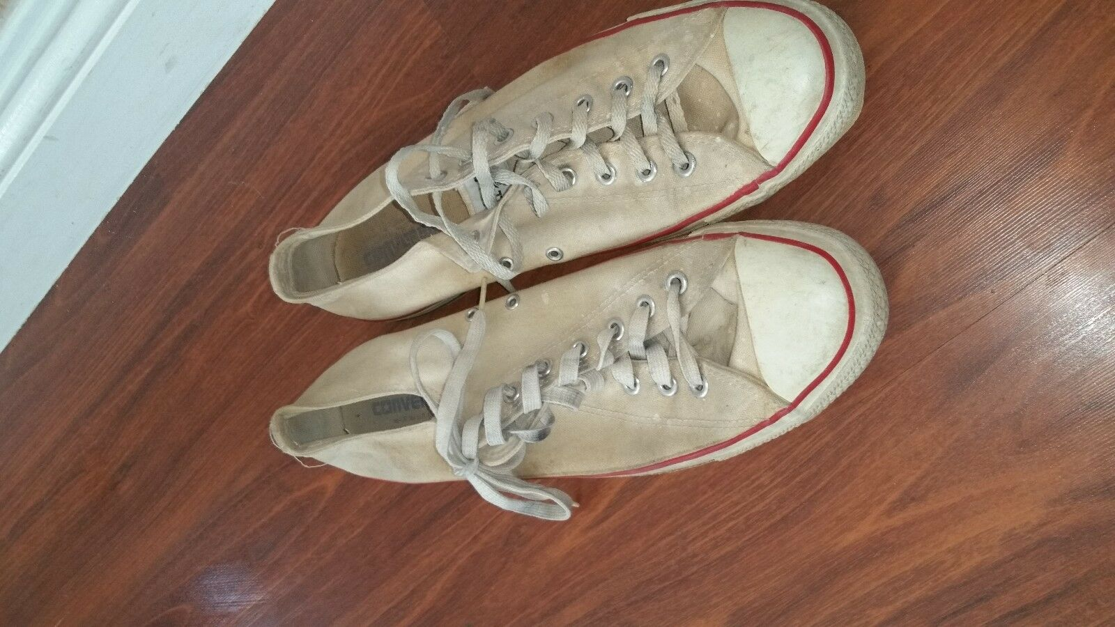 Vintage USA-MADE Converse All Star Chuck Taylor shoes white size 13