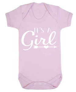 its a girl reveal baby vest babygrow pregnancy announcement baby