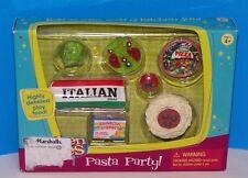 Barbie Tyco Kitchen Littles PASTA PARTY Spaghetti Pizza Salad Sherbet Bread Food