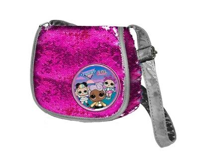 Amabile Borsa Tracolla Lol Surprise Con Paillettes Reversibili Colore Fucsia