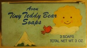 Vintage-Avon-3-Tiny-Teddy-bear-soaps-1988
