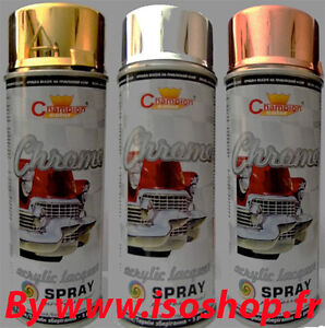 a rosol de peinture chrome sp cial jantes or argent cuivre lot de 3x400 ml ebay. Black Bedroom Furniture Sets. Home Design Ideas