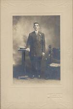 PORTRAIT OF YOUNG MAN W/ HAT   ORNATE CHAIR - NEW KENSINGTON, PA