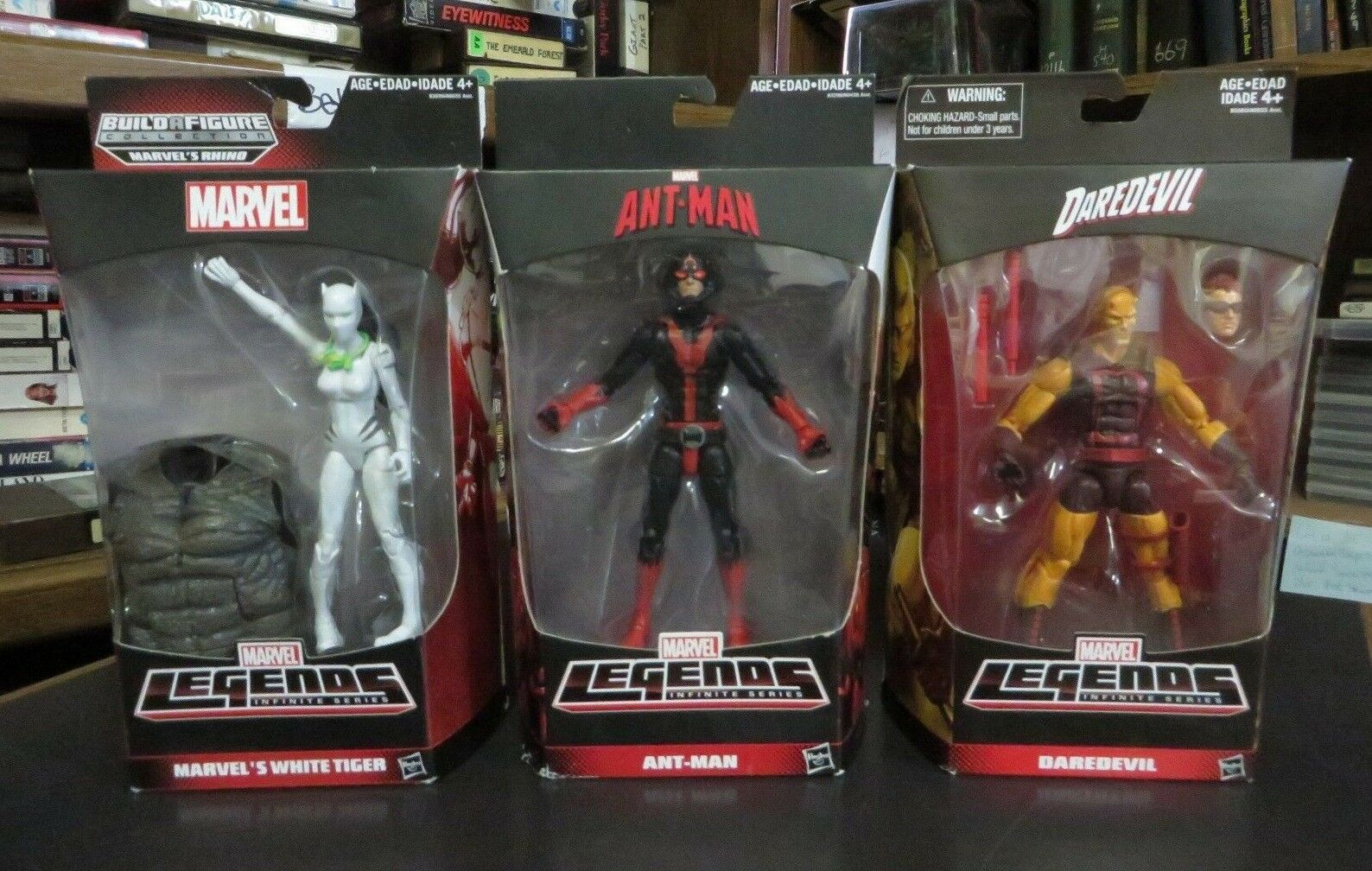 Lot of 3 Marvel  Legends Infinite  Series Figures, Darougeevil Ant-Man blanc Tiger  magasin discount