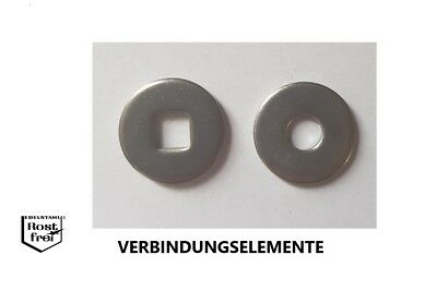 Edelstahl V2A, M6 25 St/ück M6 Unterlegscheiben Edelstahl A2 DIN 440 Form R