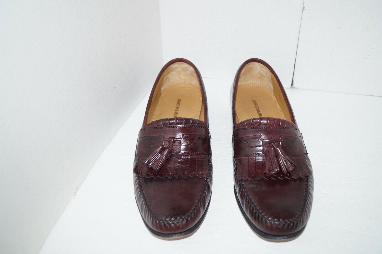 JOHNSON & MURPHY 15-0834 Breland CORDOVAN Kiltie Tassel Dress Loafers Shoes 12
