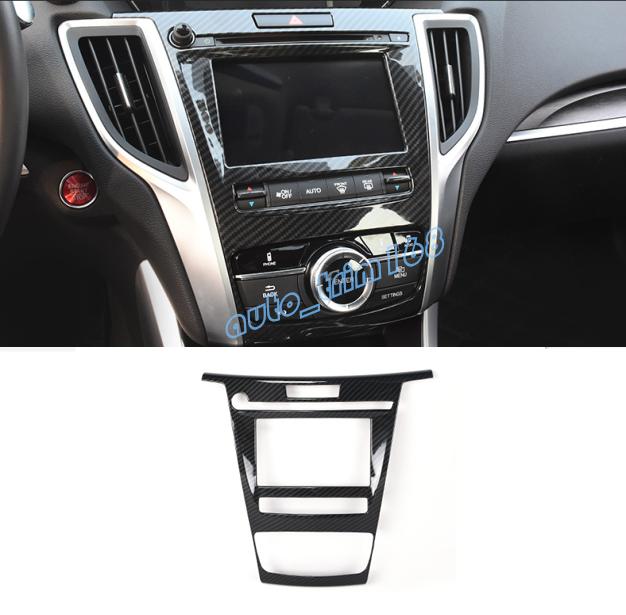 Carbon Fiber Inner GPS Navigation Panel Cover Trim For