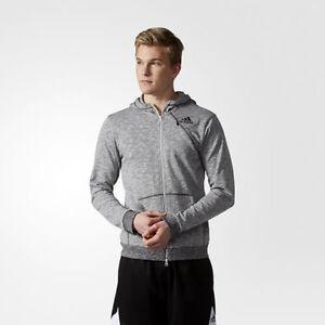Adidas Cross-up Kapuzenpullover Mit Reißverschluss Jacke Herren Grau Schwarz