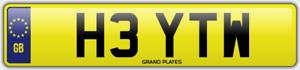 TW-INITIALS-NUMBER-PLATE-HEY-HI-CHERISHED-CAR-REG-H3-YTW-NO-ADDED-FEES-TO-PAY