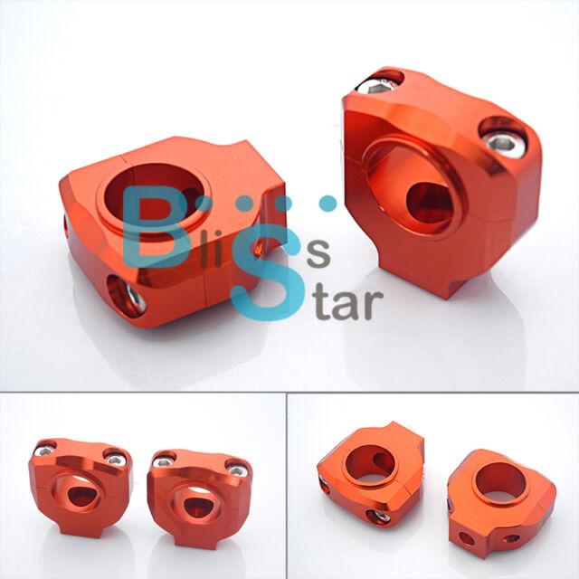 """Orange HANDLEBAR CLAMP 28mm 1-1/8"""" For KTM DUKE 125 200 390 2012-2013 O1"""