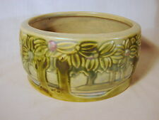 Old Early Roseville Vista Forest 6in Console Bowl, 349-6, ca. 1920, VG to Exclnt