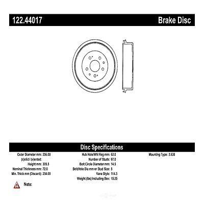 Centric Parts 122.44017 Brake Drum