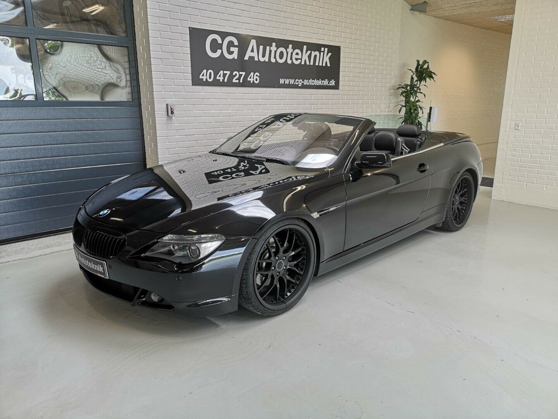 BMW 645Ci 4,4 Cabriolet Steptr. 2d - 319.000 kr.