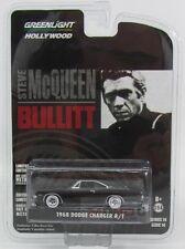 Dodge Charger R/T Bullitt Steve Mcqueen 1968 Black Greenlight 1:64 GREEN44741