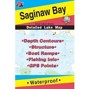 Fishing Hotspots L129 Michigan Lake Maps Saginaw Bay
