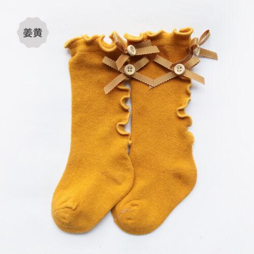 Newborn Toddler Knee High Sock Baby Boy Girl Bowknot Socks Anti Slip Stockings