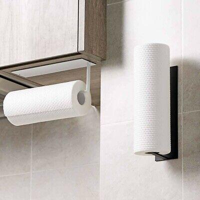 Iron Wall Shelf Under Cabinet Paper Towel Holder Tissue Hanger Self Adhesive Uk Ebay